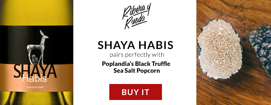 Shaya Habis and Black Truffle Sea Salt Gourmet Popcorn Pairing