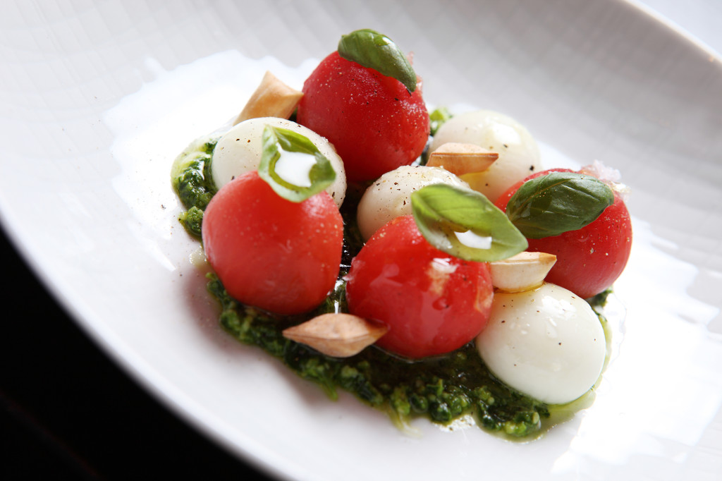 "Macalisang says the Not Your Everyday Caprese, thanks to its liquid mozzarella balls, is ""an amazing match"" for Rueda wines."