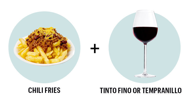 French Fries and Ribera del Duero Tempranillo